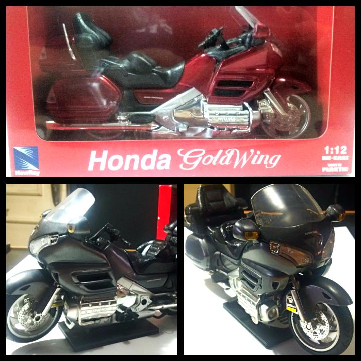 NewRay 1:12 Scale Die-Cast  Honda 2010 Goldwing Burgundy