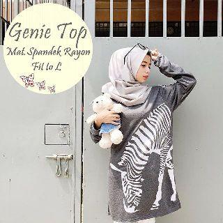 baju hijab wanita genny zebra ( grosir baju muslim murah wanita )
