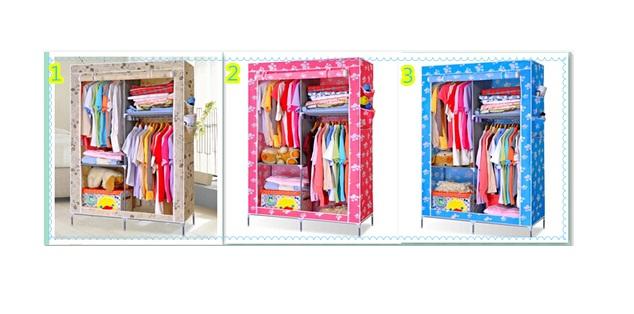 cloth rack organizer lemari rak susun gantung baju mukena hijab jilbab