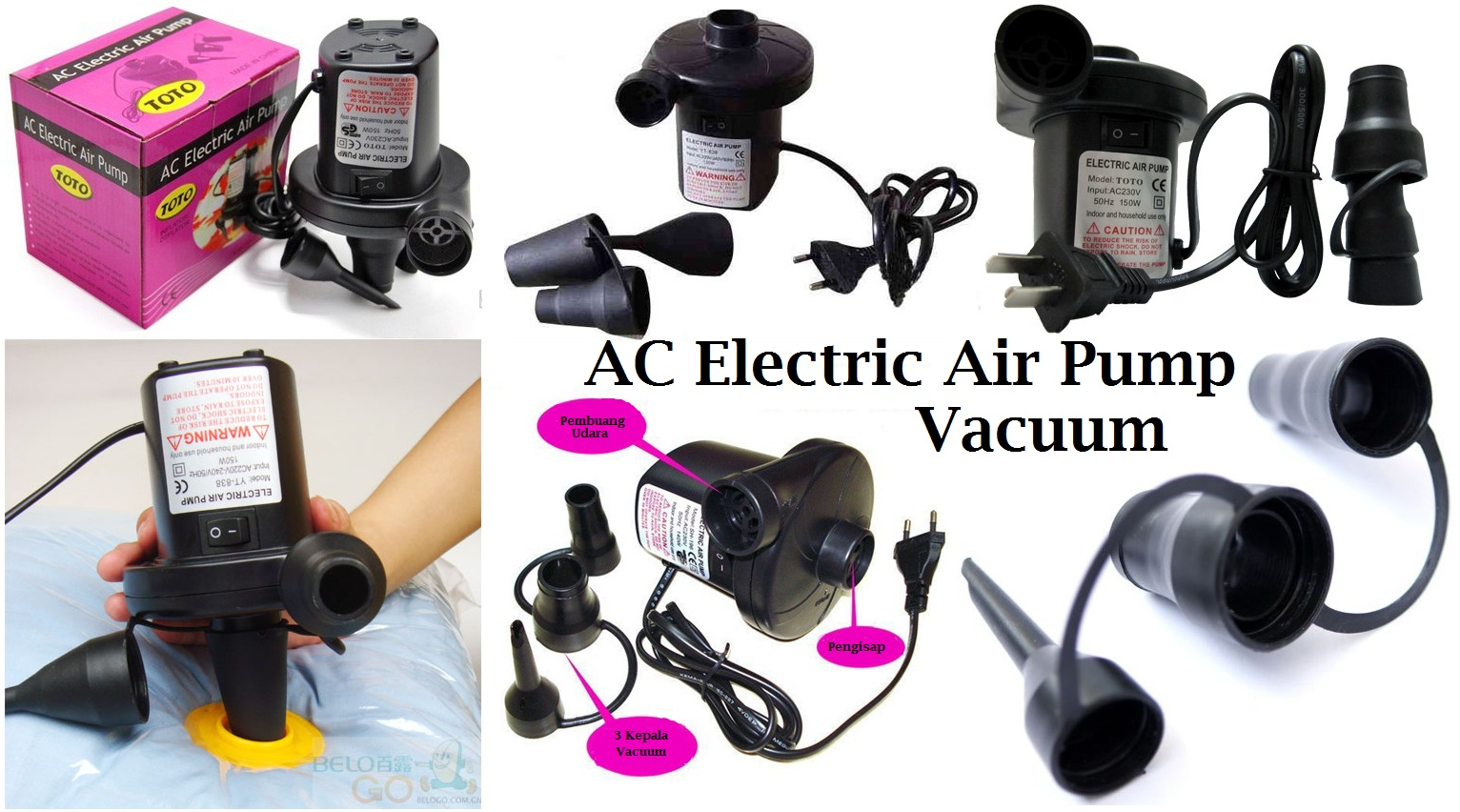 Jual Electric Vacuum Pompa Vacum Listrik Kasur Angin Vakum Elektrik Ban Les Souvenirs Indonesia Tokopedia