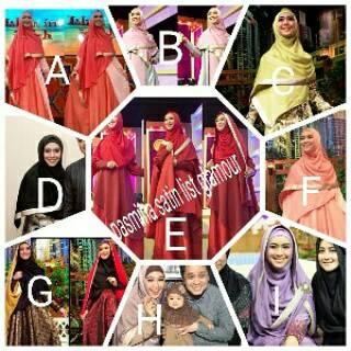 jilbab hijab Pasmina oki satin list glamour murah