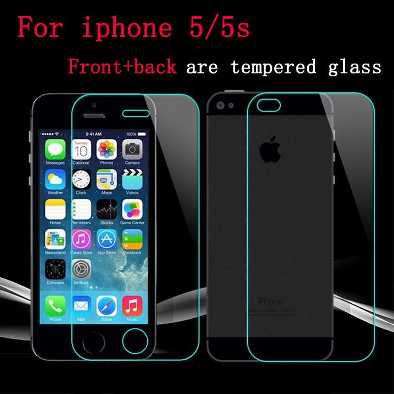 Jual TEMPERED GLASS IPHONE 5G / 5S BENING / DEPAN BELAKANG /ANTI GORES KACA -