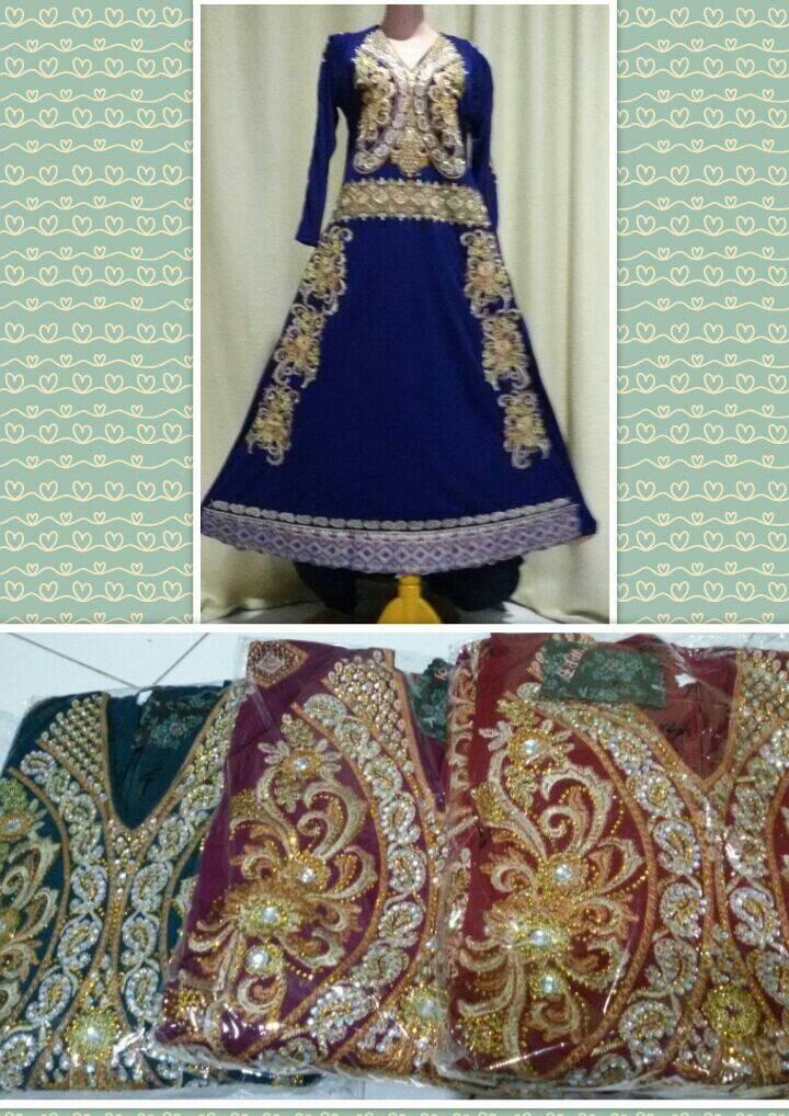 harga gamis india warna baru Tokopedia.com