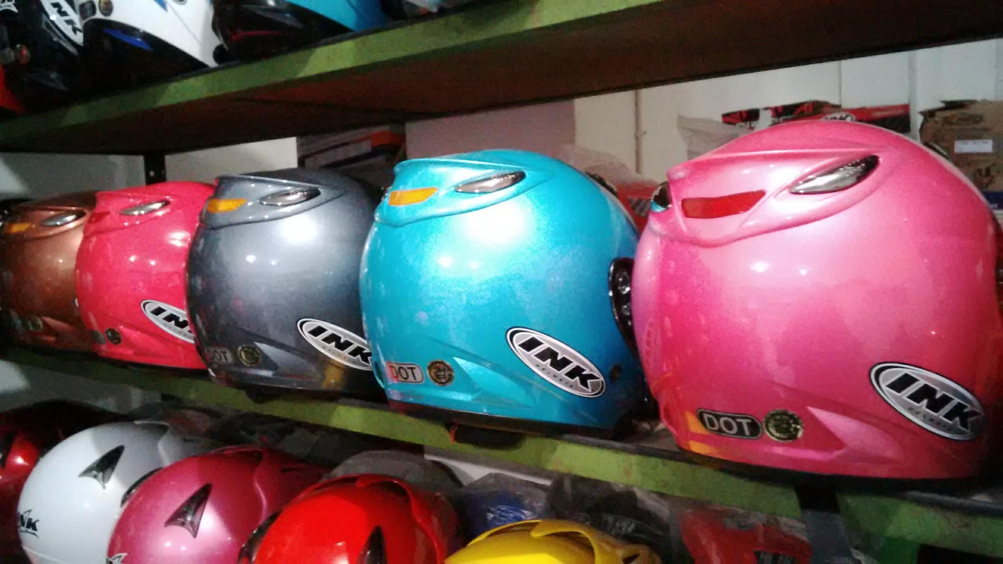 jual helm basic ink half - kamil'shop | tokopedia