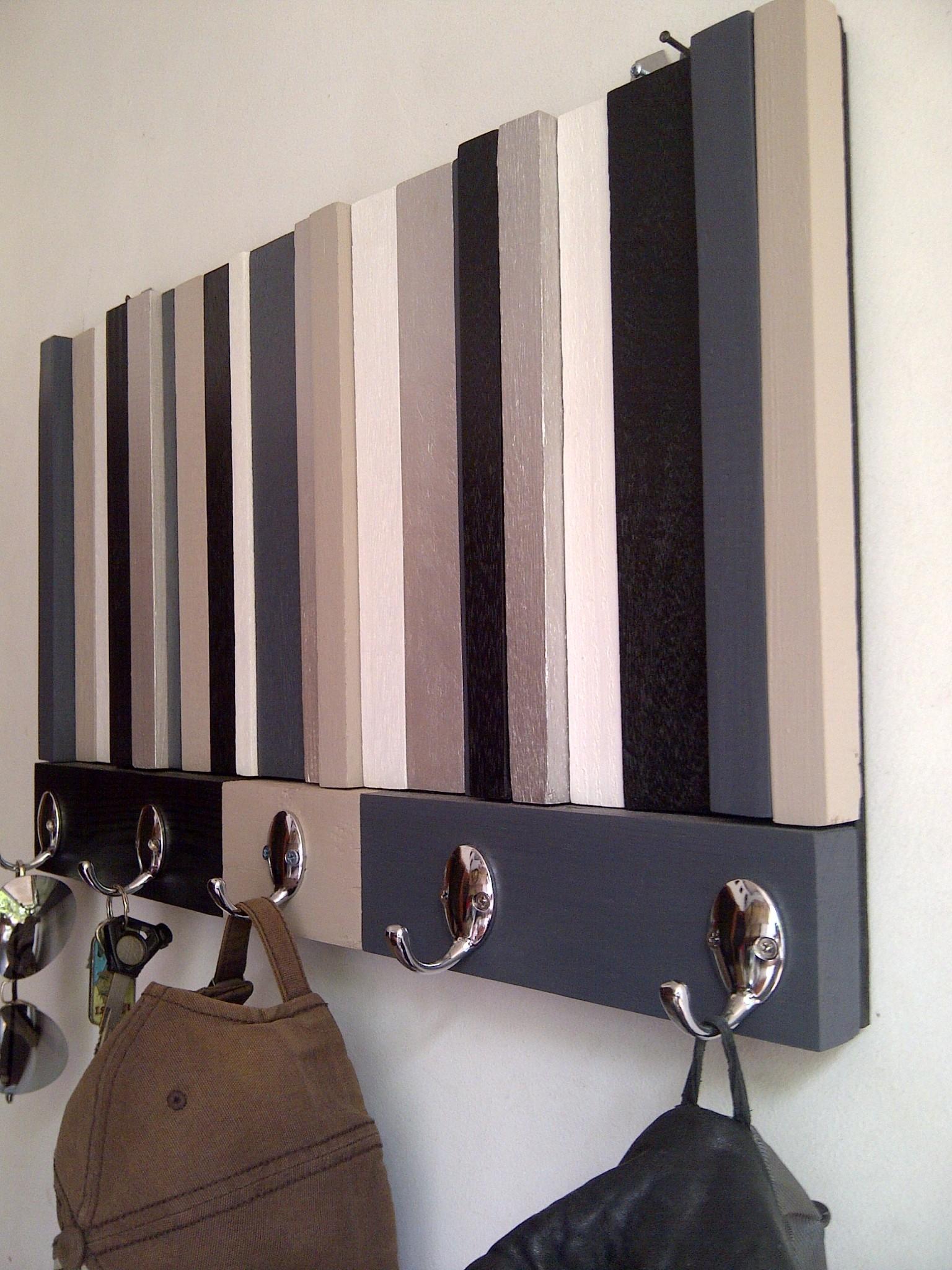 Jual kapstok kayu modern rustic. gantungan baju hitam putih silver ...