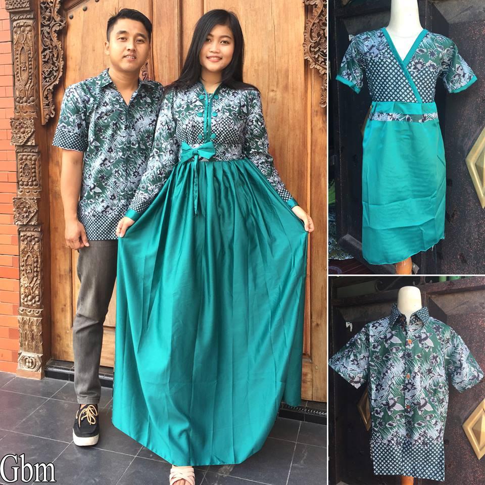 Jual Baju Batik Sarimbit Keluarga Couple Muslim Anak