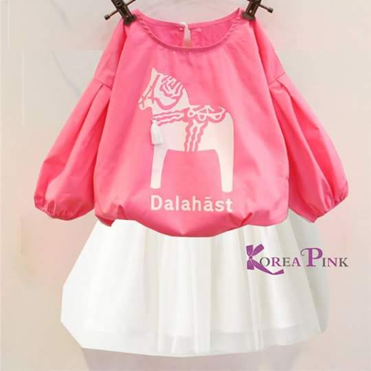 harga baju merk Korea pink Tokopedia.com