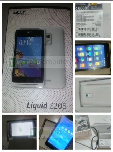 Jual Acer Z205 Bekas Liquid Fullset 2nd Bergaransi Omah