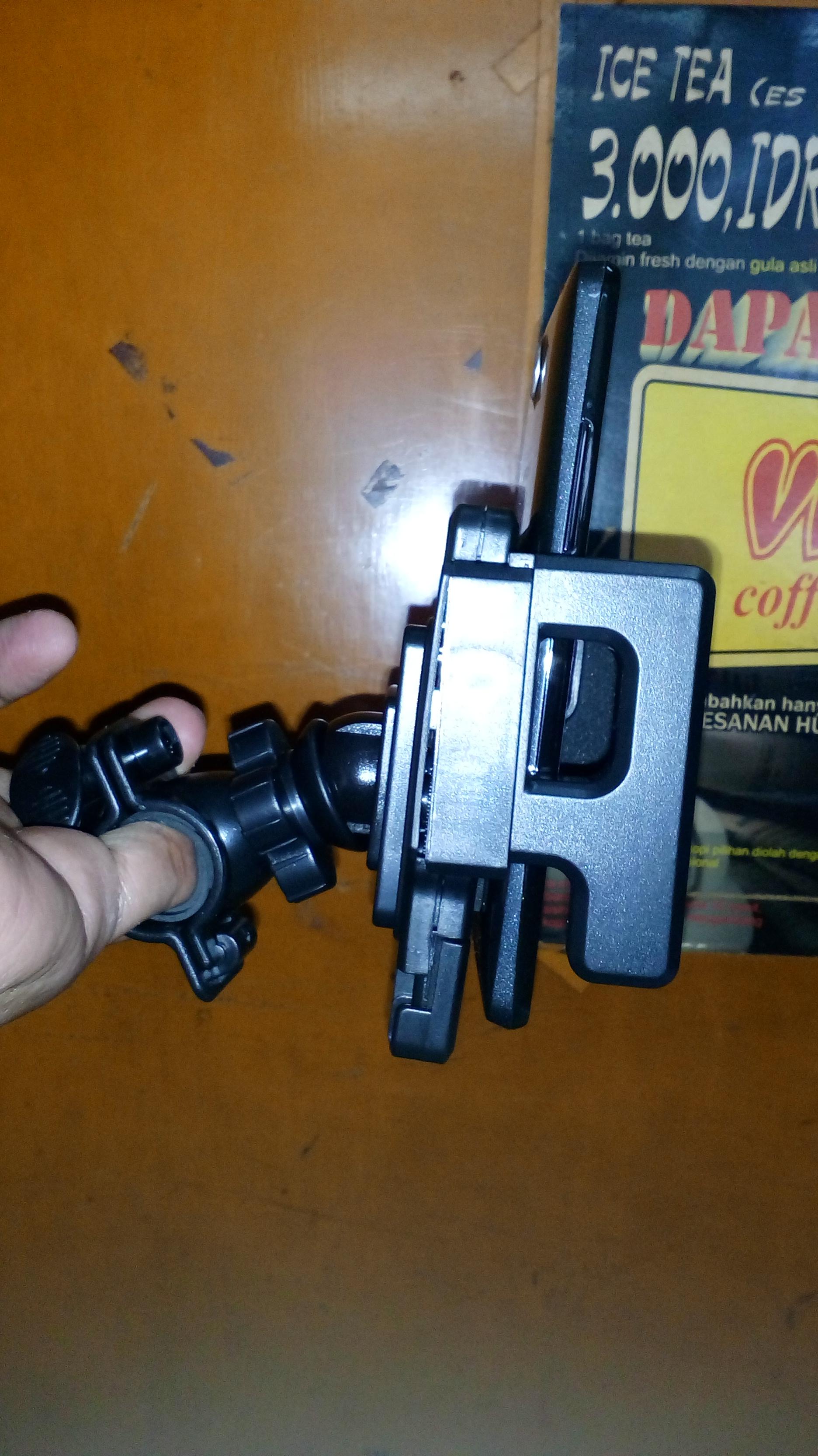 phone holder stang motor laki dan sepeda
