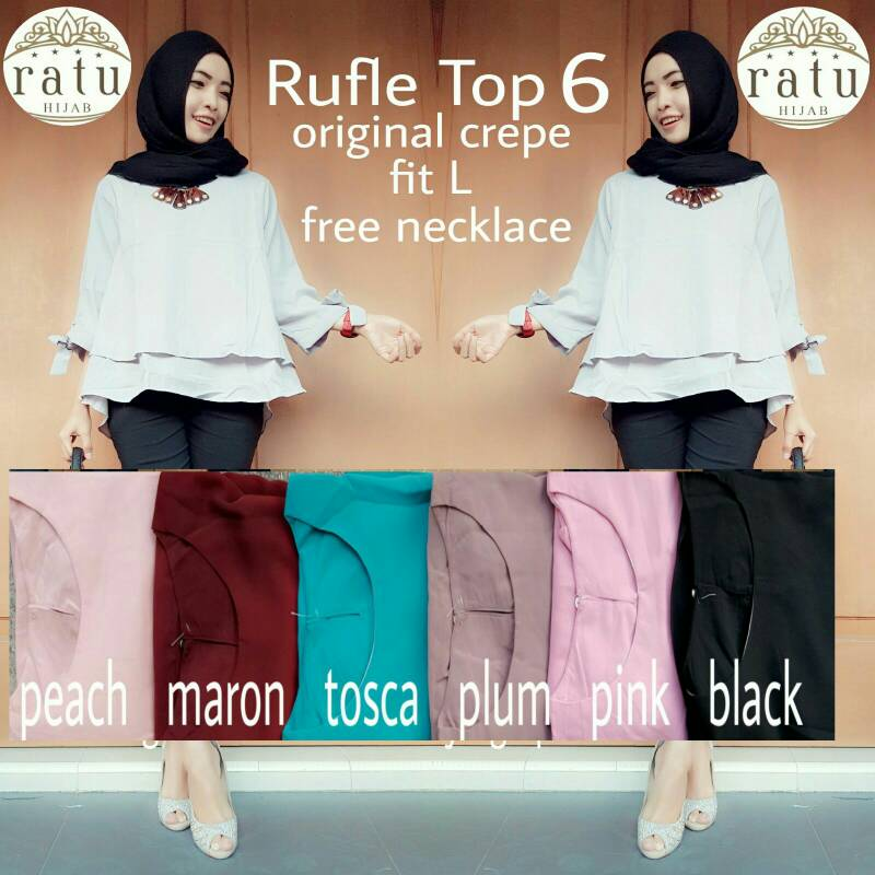 RUFFLE TOP / SUPPLIER HIJAB