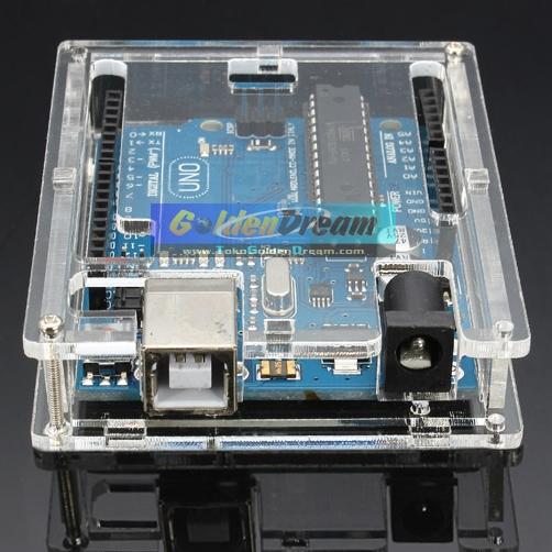 Jual acrylic box for arduino uno r transparent casing
