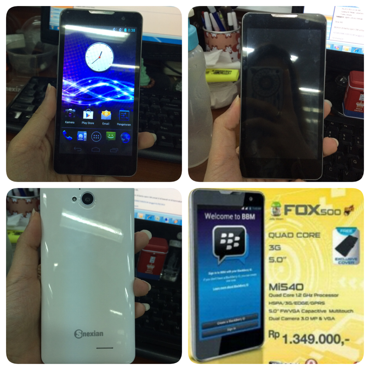 Jual Hp Android Murah S Nexian Fox500 Mi540 Aquawisely Tokopedia
