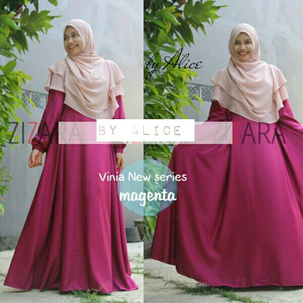 supplier baju hijab : zizara vinia magenta by alice / katun balotely