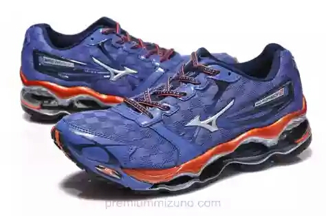 Sepatu Running Volley Mizuno Wave Prophecy 2 navy silver red ORIGINAL