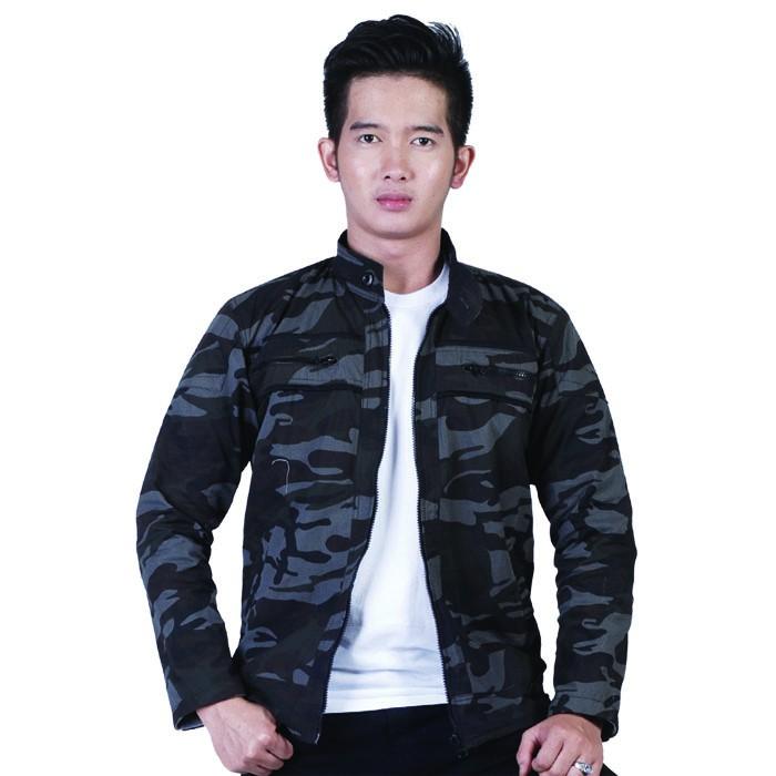Jaket Loreng Pria, Canvas, J7 - ISL 979 | jacket, ARMY look, Outdoor