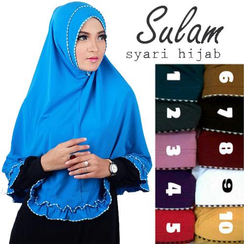 Hijab Jilbab Syar'i Sulam