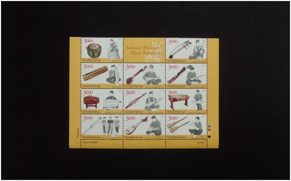perangko ALAT MUSIK TRADISIONAL 2014 .