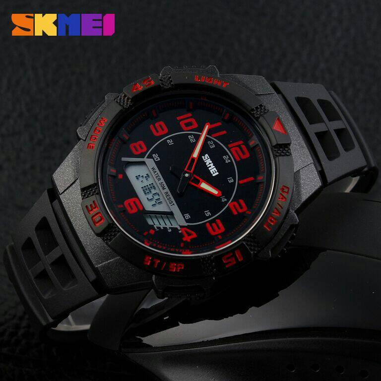 SKMEI Casio Men Sport LED Watch Water Resistant 50m -Jam Tangan Pria