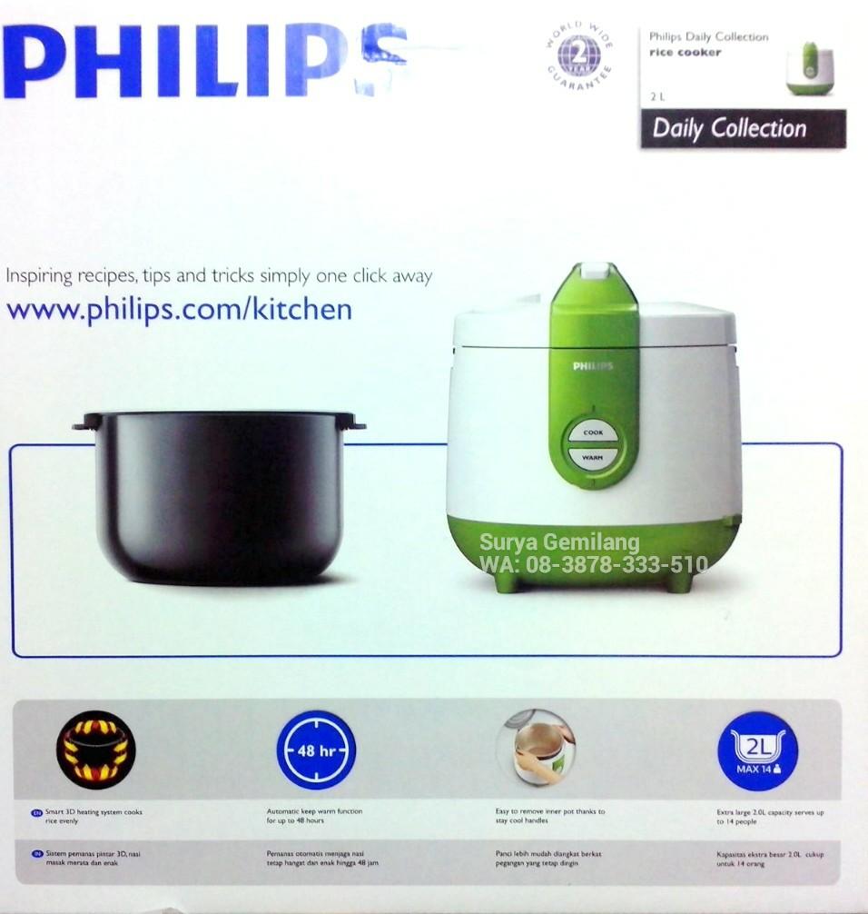 Philips Rice Cooker Hd3118 Daftar Harga Terbaik Dan Terlengkap 2l Basic Green 30 Free Sunlight 2liter Warna Biru Jual 3d 3in1 Hijau Asli