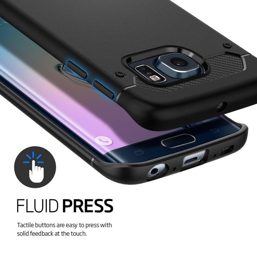 Spigen For Galaxy S6 Edge Plus Capsule Ultra Rugged - Hitam