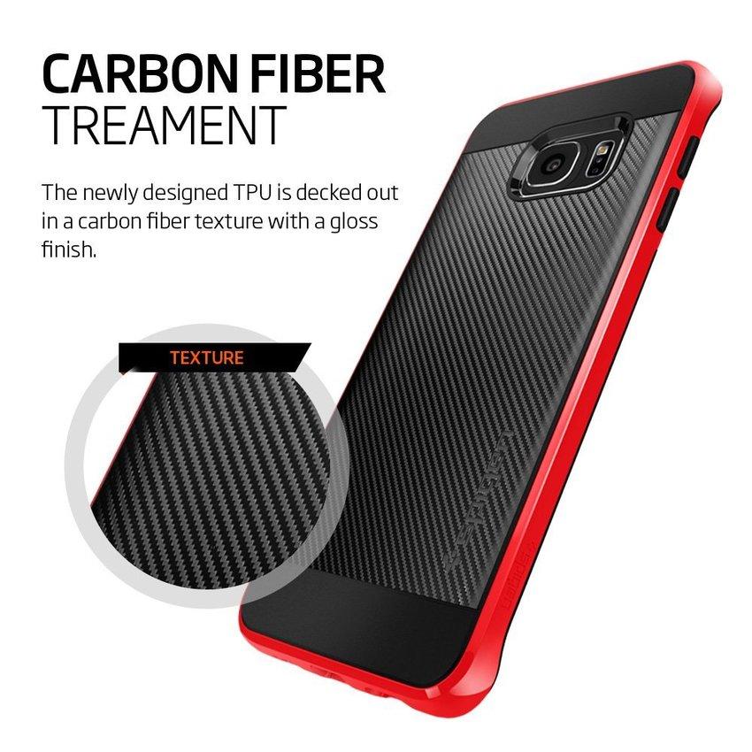 Spigen Galaxy S6 Edge Plus Neo Hybrid Carbon - Dante Red
