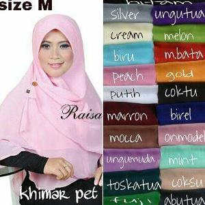 Kerudung / Hijab / Khimat pet 2 layer size M
