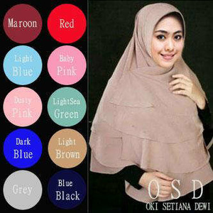 Hijab/ Jilbab Syar'i/ Khimar Oki Setiana Dewi (Khimar Triple Layer)