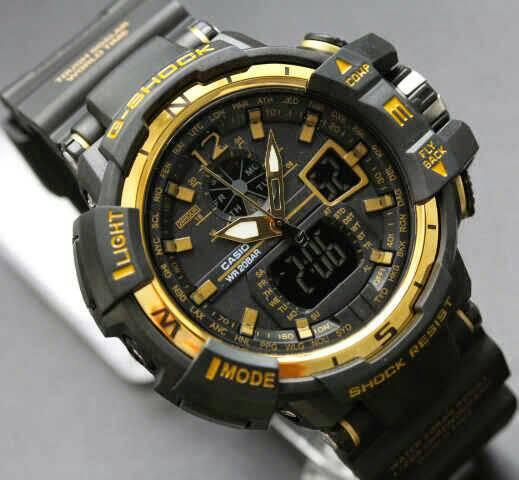 Jam tangan pria wanita digital analog gshock casio ripcurl black hitam