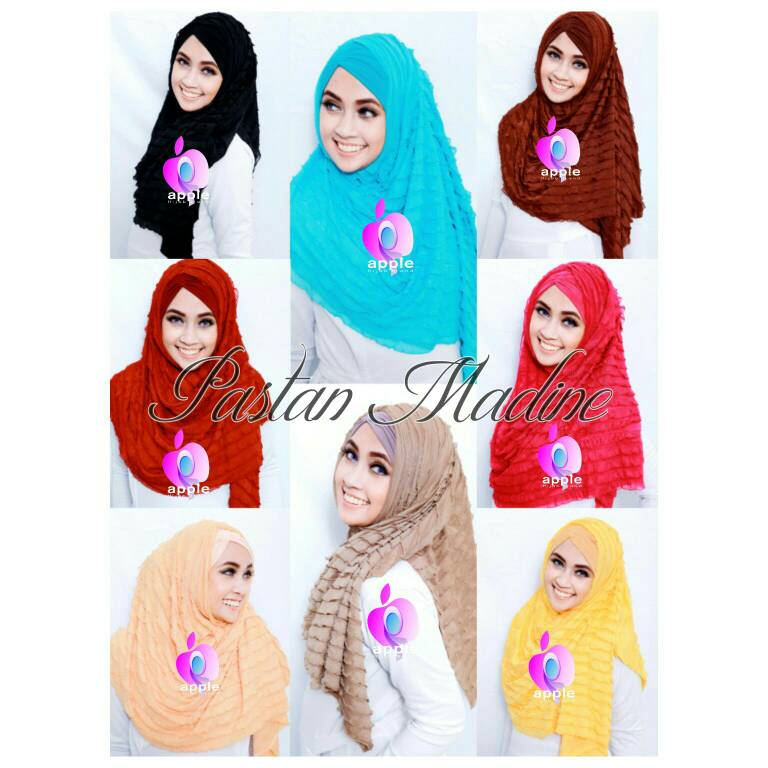Pastan Madine Free Inner Kerut By. Apple Hijab Brand