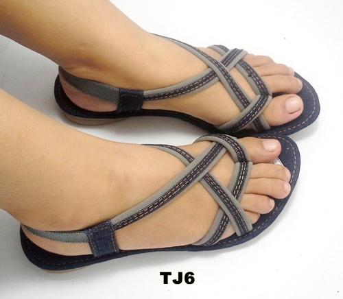 Jual sandal tali denim TJ6 - Nirmala Shop   Tokopedia