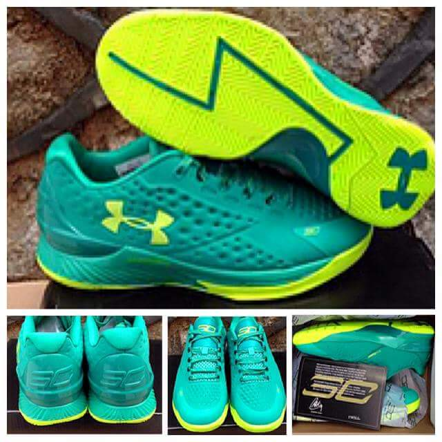 Jual SEPATU BASKET UNDER ARMOUR CURRY 1 GREEN