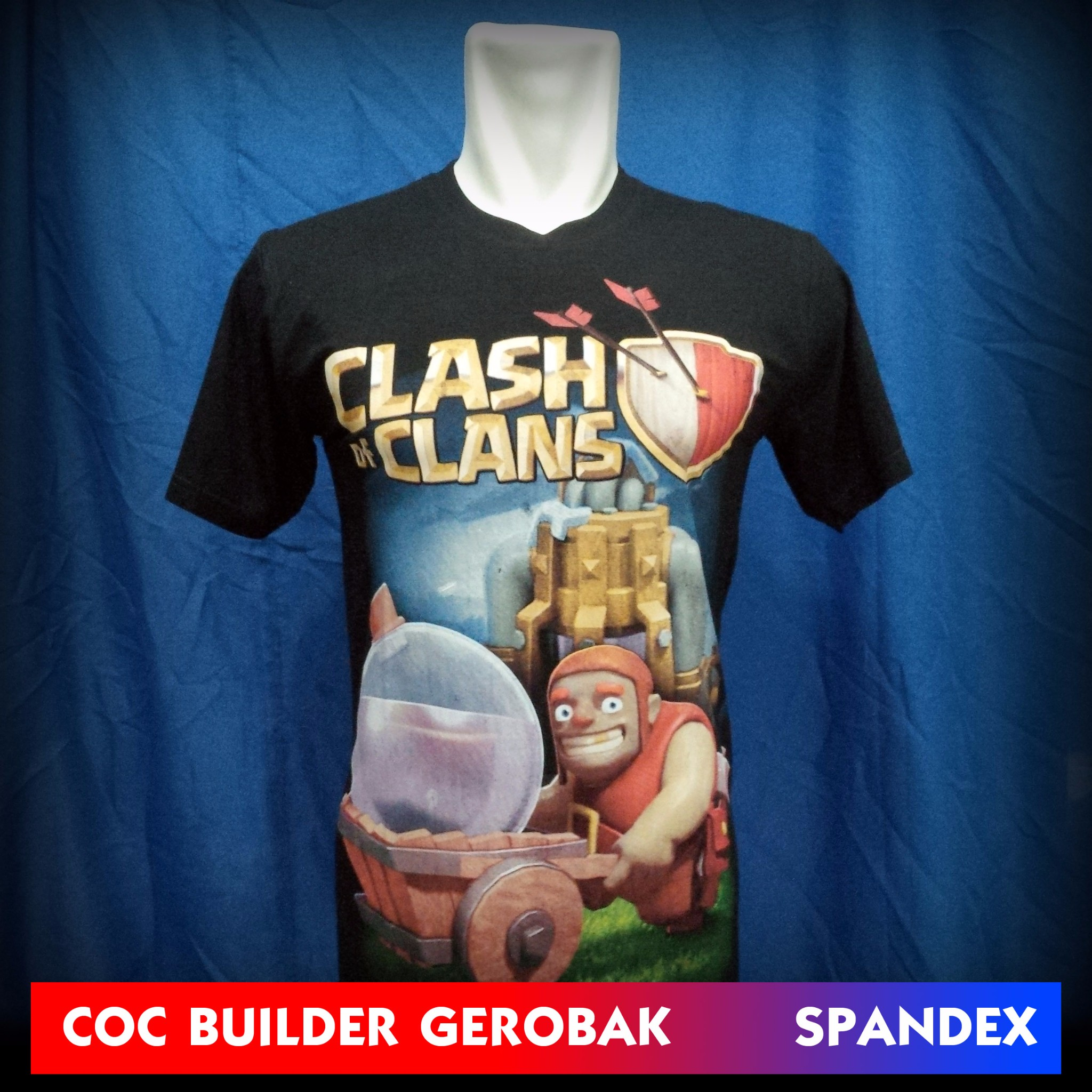 Kaos COC Builder Gerobak Spandex