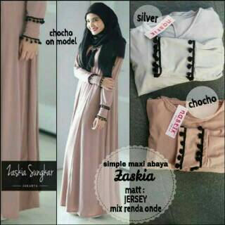 supplier baju hijab : zaskya sungkar dress ori by nabtik