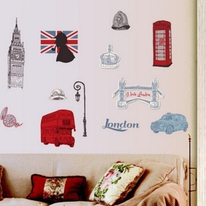 jual wall sticker jumbo london 60 x 90 murah surabaya - mi