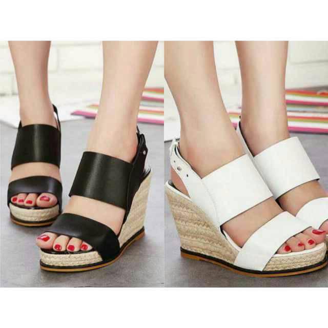 WEDGES RS-65 (high heels flat kets boot sandal cewe sepatu wanita)