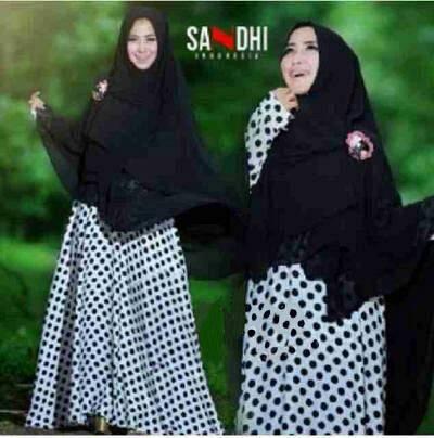Hijab sandra white bergo no pad