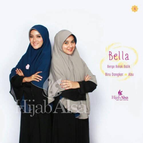 Hijab Syar'i Bergo Semi Instan 2 Lapis 2 Warna Bella Hijab Alsa 04