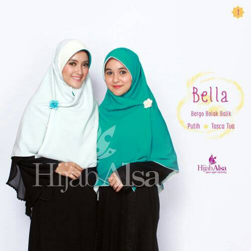 Hijab Syar'i Bergo Semi Instan 2 Lapis 2 Warna Bella Hijab Alsa 01