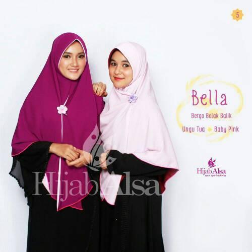 Hijab Syar'i Bergo Semi Instan 2 Lapis 2 Warna Bella Hijab Alsa 05