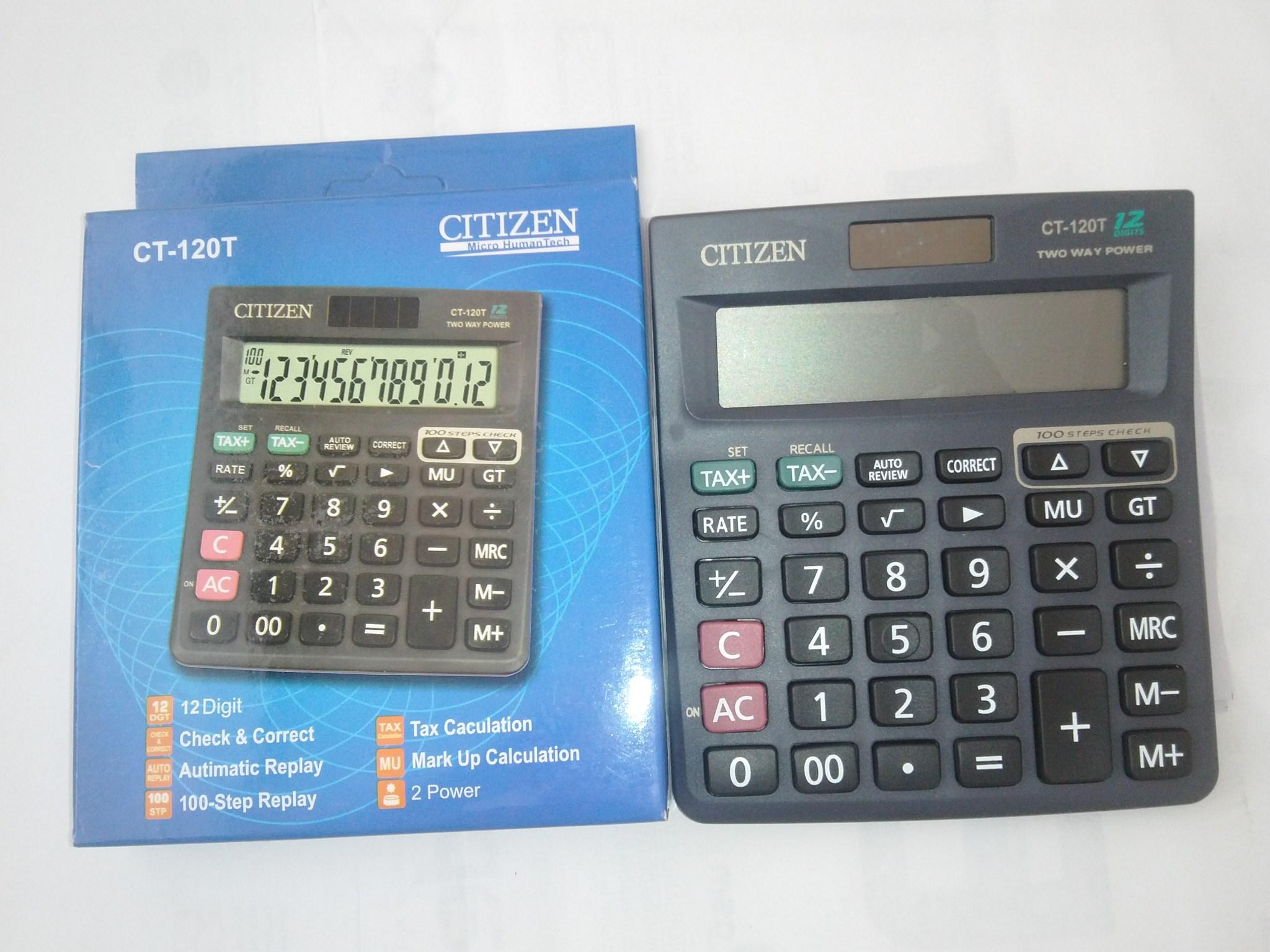Jual Kalkulator Toko Shop Calculator Citizen 12 Digit Ct 120t Atk Semua Tokopedia