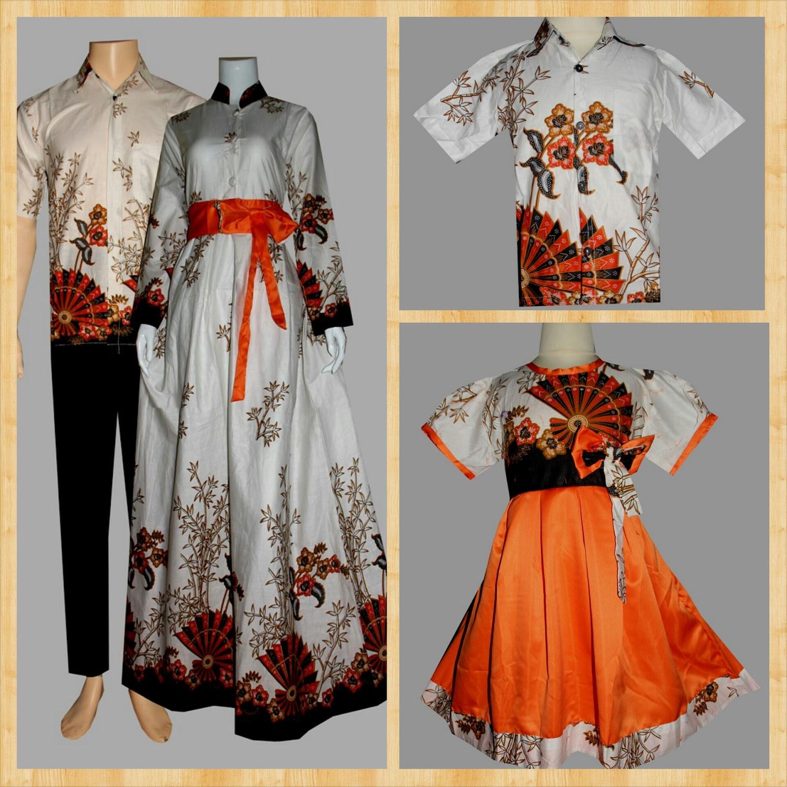 Jual Baju Keluarga Sarimbit Batik Family Couple Batik Gamis Batik