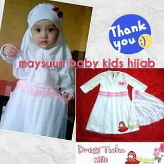 Busana Muslim Bayi Anak Dress Tutu Baby  by Maysuun Baby Kids Hijab