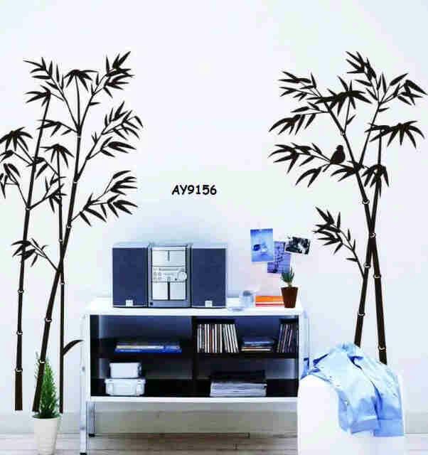 jual wallsticker bambu hitam 60x90 - sabrina wallstiker