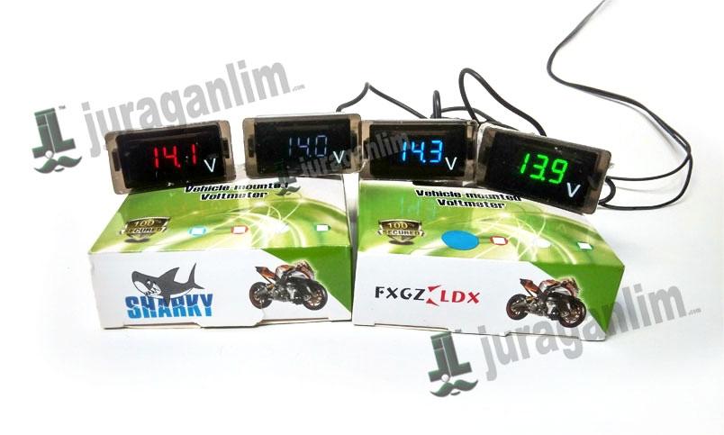Harga Voltmeter Mini LED Digital - SUPER SLIM untuk Motor / Mobil