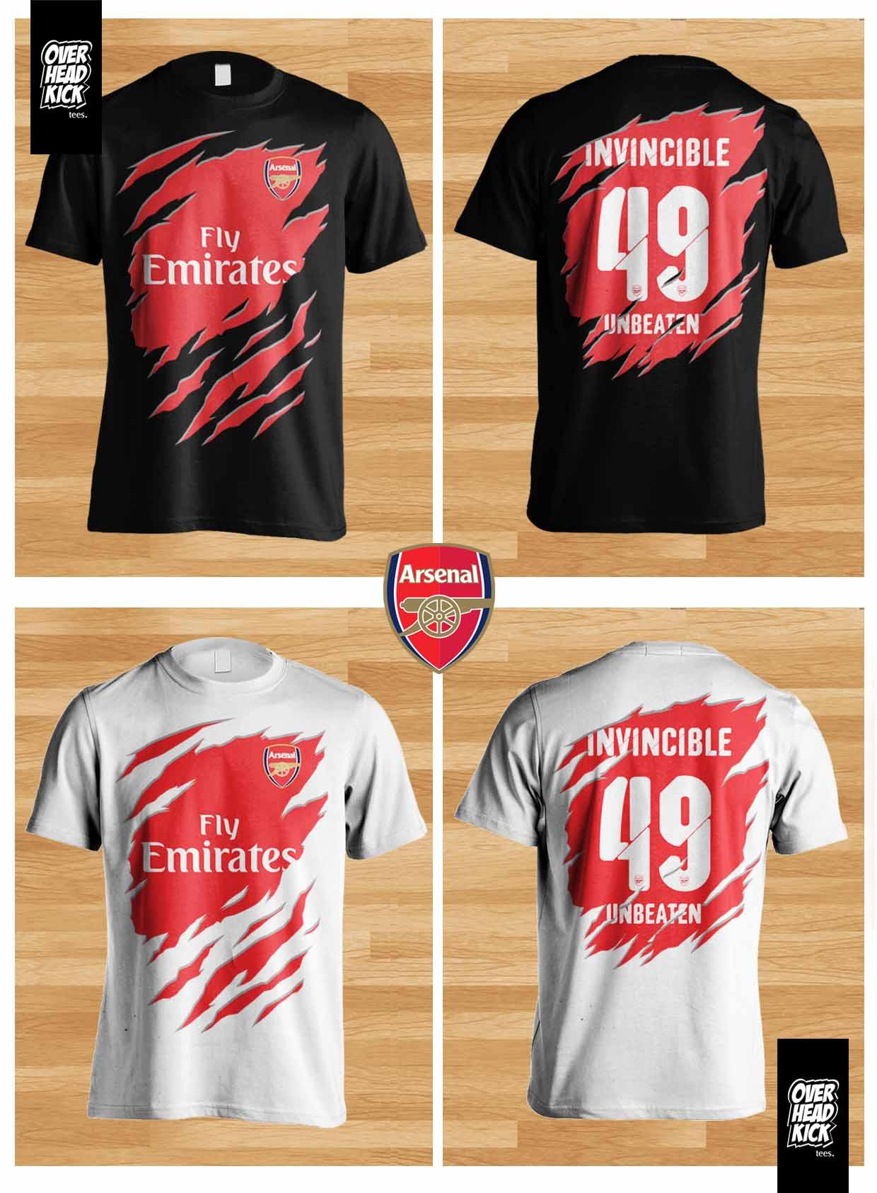 harga Kaos Bola Arsenal 3D T-shirt  The Gunners Distro Jersey Overheadkick Tokopedia.com