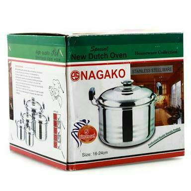 ... Dutch Oven Stainless Steel 5 Buah Silver; Page - 2. Nagako Cookware Set Panci 5pcs Nagako Cookware Set Panci 5pcs Nagako