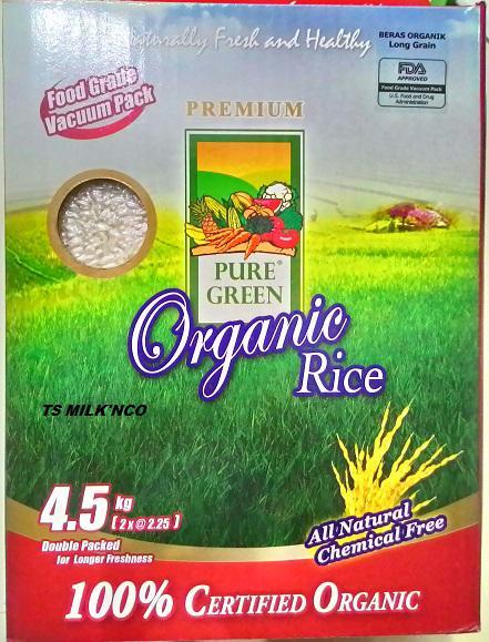 harga Puregreen Beras Organic Long Grain 4,5kg Tokopedia.com