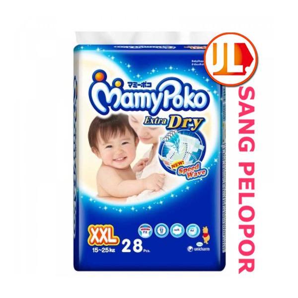 harga MamyPoko Tape Extra Dry, Size XXL, 28pcs Tokopedia.com