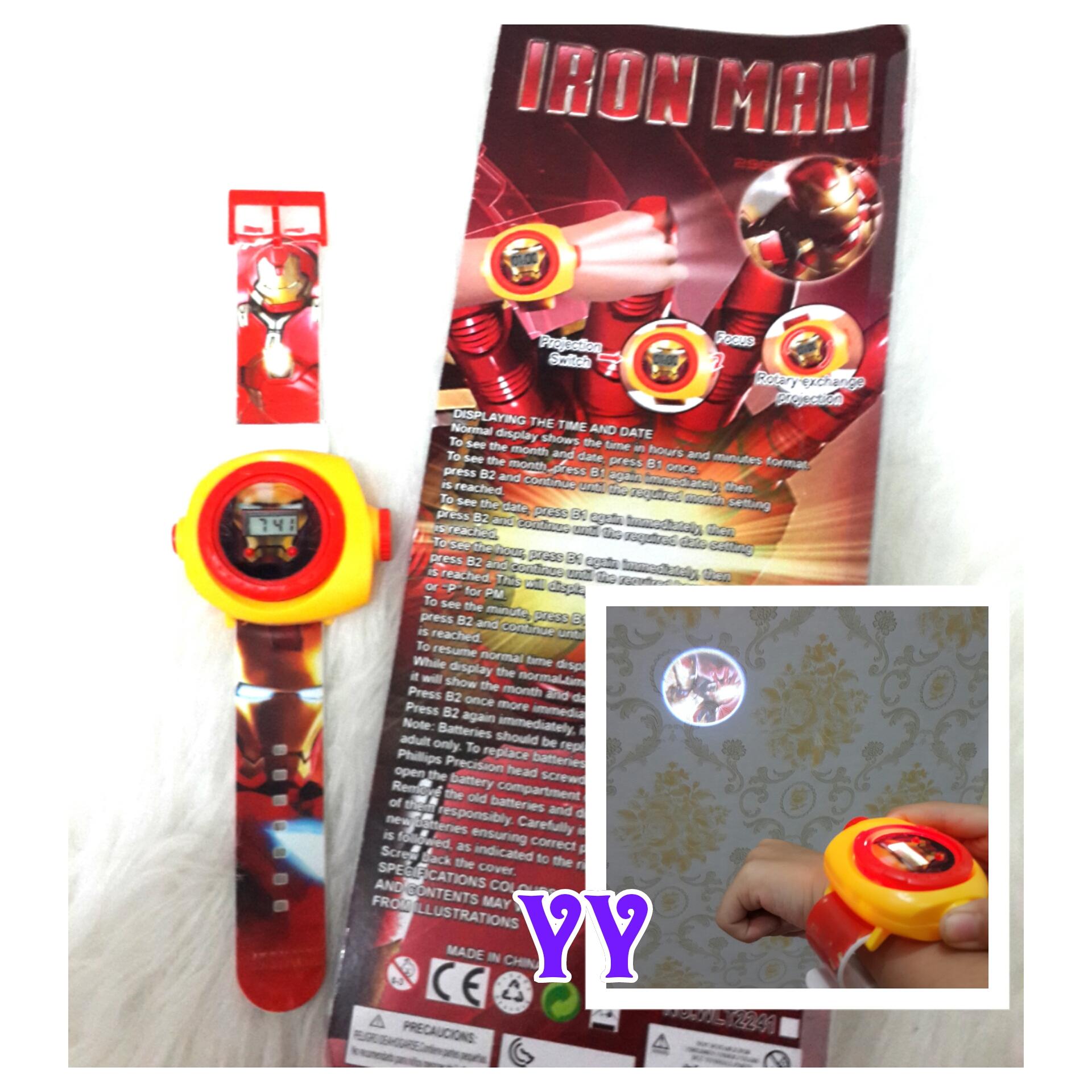 New Jam Tangan Anak Proyektor Ironman