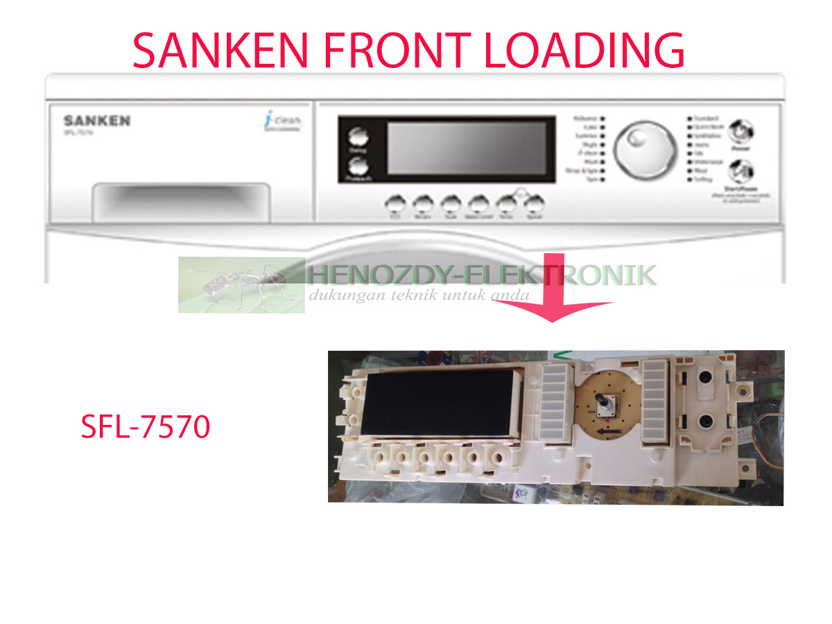 MODUL | PCB MESIN CUCI SANKEN SFL7570 FRONT LOADING ORIGINAL